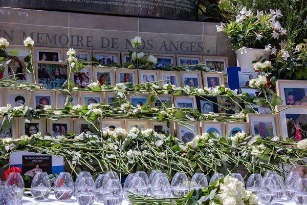 Le mémorial des victimes de l'attentat de Nice situé villa Masséna.