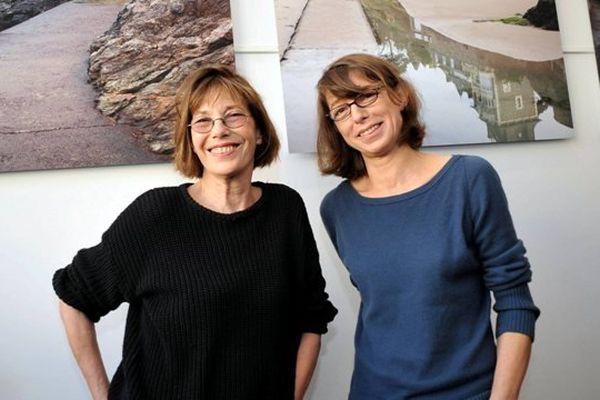 Kate Barry avec sa mère Jane Birkin lord du festival du film britannique de Dinard en octobre 2012.