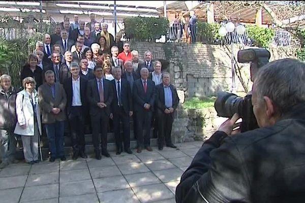 Sur les 65 maires de la circonscription, une cinquantaine d'élus étaient rassemblés ce jeudi derrière le candidat Les Républicains.
