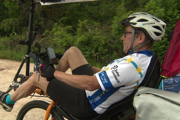 Stéphane Bujadoux a lui-même conçu son vélo solaire.