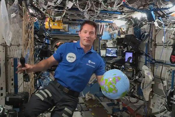 L'astronaute Thomas Pesquet depuis la station spatiale internationale (ISS) en avril 2021.