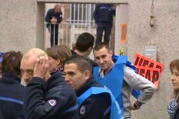Le personnel de la maiosn d'arrêt de Chartres en grève ce lundi
