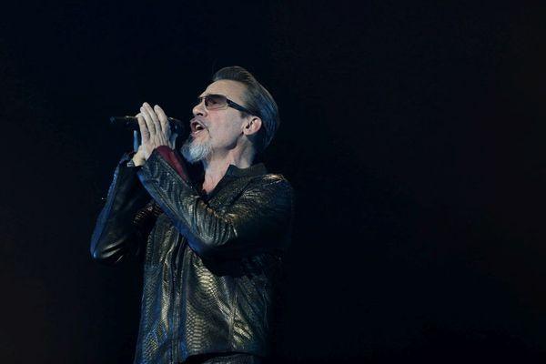 Le chanteur Florent Pagny lors d'un concert à Montbéliard le 10 décembre 2017