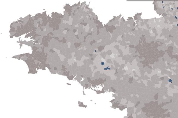 Seules quatre communes bretonnes ont voté majoritairement Marine Le Pen au second tour de l'élection présidentielle 2017.