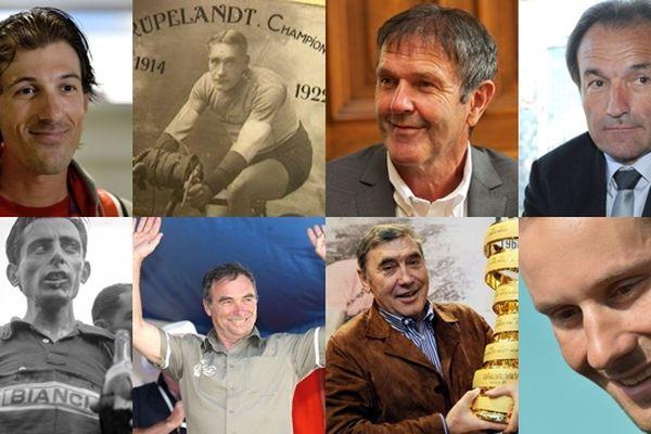Bernard Hinault, Roger De Vlaeminck, Tom Boonen et Eddy Merckx