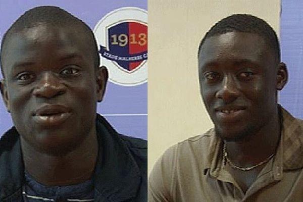 Les deux nouvelles recrues du SMC présentées ce mardi 18 juin, Ngolo Kanté, milieu de terrain à gauche et Denis Appiah défenseur polyvalent à droite