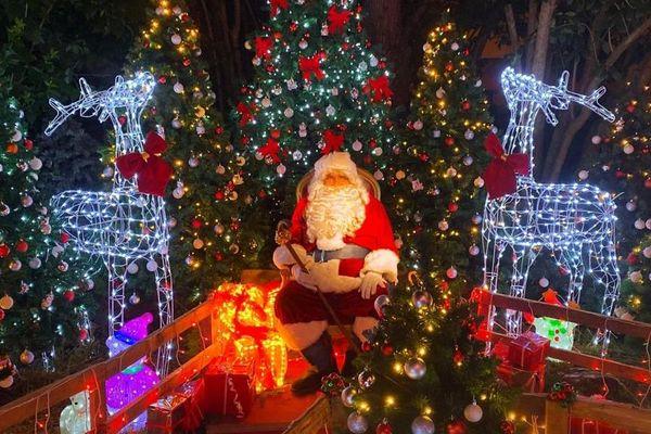 Le Père-Noël de passage à Mouans-Sartoux !