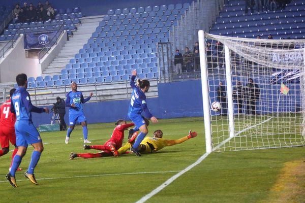 Noisy-le-Grand s'est incliné 2-1 sur le terrain de Bastia, jeudi 24 janvier, en 16e de finale de Coupe de France.