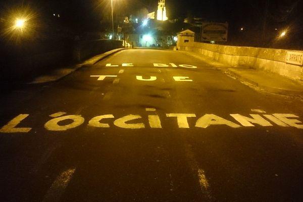 Les routes du Gers couvertes de message dans la nuit de lundi à mardi