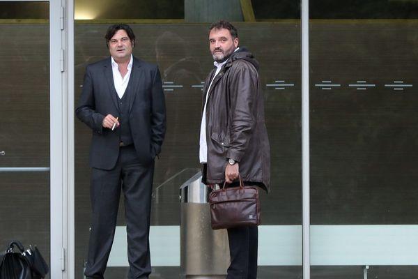 Randall Schwerdorffer et Frédéric Péchier, devant le tribunal de Besançon.