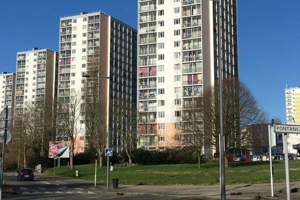Le quartier de Pontanézen où des interpellations ont eu lieu ce lundi 20 janvier