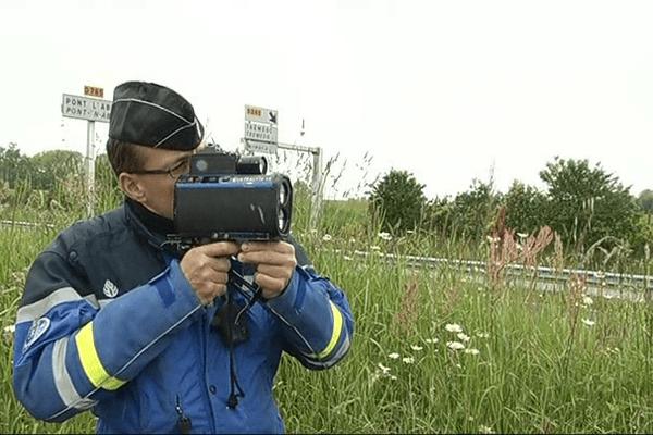 Radar mobile gendarme dans le Finistère