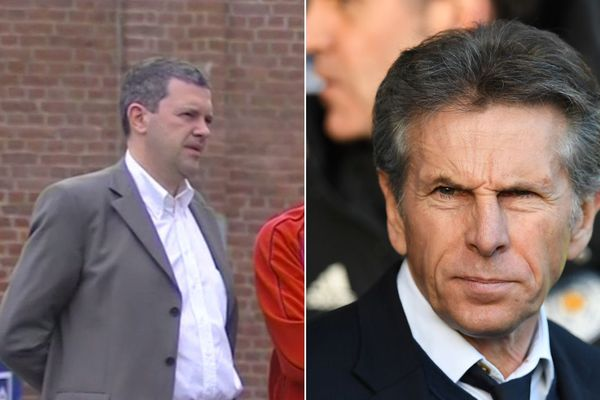 A gauche, Xavier Thuilot, à droite Claude Puel.
