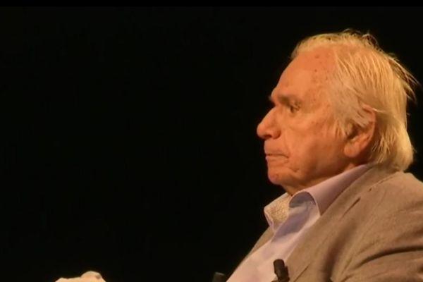 Michel Galabru, lors de la représentation de son spectacle à Monéteau le 28 octobre 2015