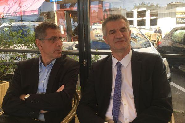 Jean Lassalle a rencontré le maire de Bastia, Pierre Savelli