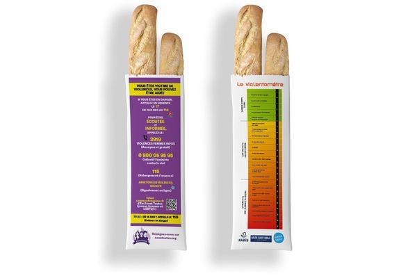 """Plus de 500 000 sacs à pain avec des numéros utiles et un """"violentomètre"""" seront distribués dans les boulangeries"""