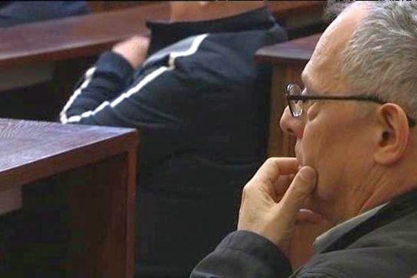 Régis Peillon, dans la salle d'audience du tribunal de Chalon-sur-Saône.