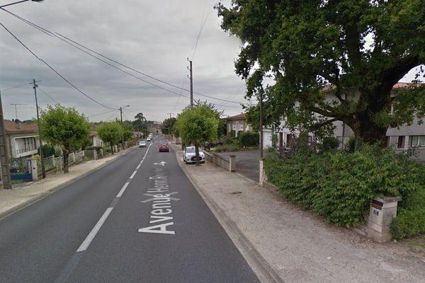 L'avenue Henri Roucher à Civray (86)