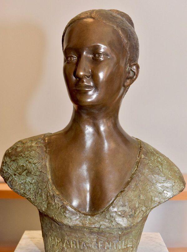 Le buste de Maria Gentile, une héroïne populaire corse, installé à l'Assemblée de Corse