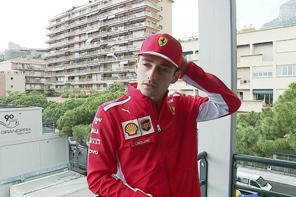 Charles Leclerc, originaire de Monaco, pilote de FI pour Ferrari.