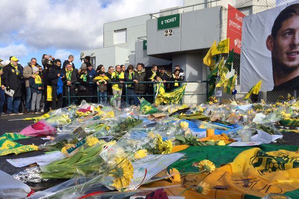 L'hommage à Sala à La  Beaujoire de Nantes, le 10 février 2019