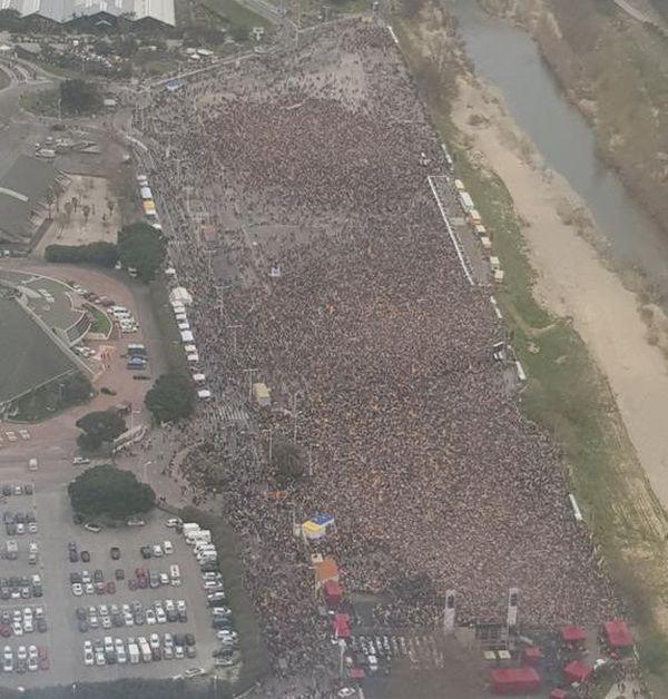 Le Parc des Expositions de Perpignan était quasiment plein ce samedi à 14 heures