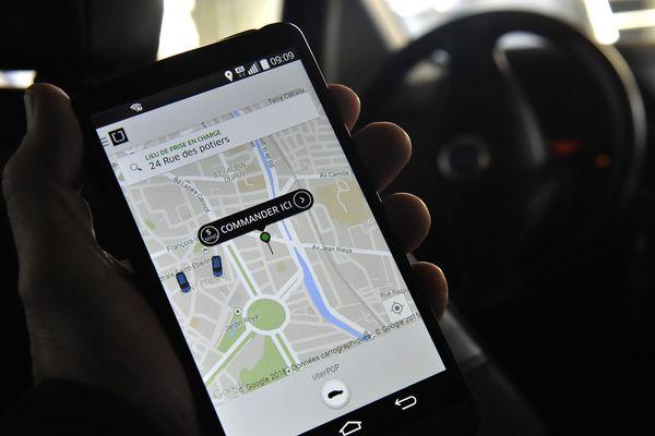 Les prestations étaient commandées par le biais d'applications comme Uber, Kapten, Bolt ou Heetch (illustration).