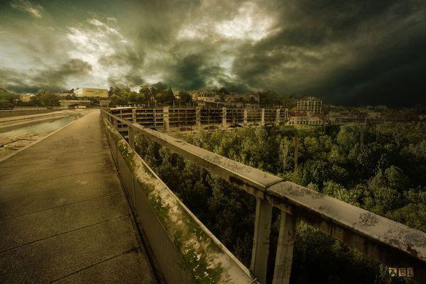 Poitiers dans le futur imaginé par Jean Aballea.