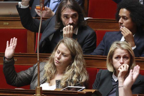 Nadia Hai sur les bancs de l'Assemblée Nationale en 2017. Elle est alors députée LRM de la 11ème circonscription des Yvelines.