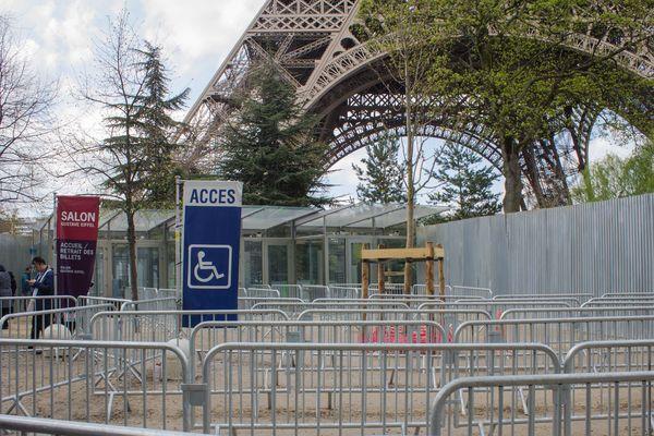 La Tour Eiffel fermée au public, depuis le vendredi 13 avril 2018.