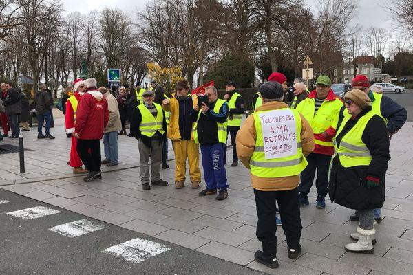 Les gilets jaunes à Chaumont, le 22 décembre 2018