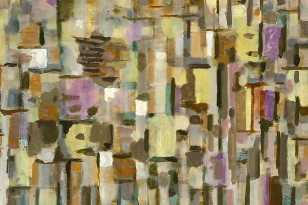 Roger Bissière, Equinoxe d'hiver, huile sur toile à matelas, 1957, Collection particulière