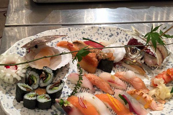 Anthony Nguyen a fourni un travail excellent en présentant ce met au Global Sushi Challenge. Une assiette qui donne faim!