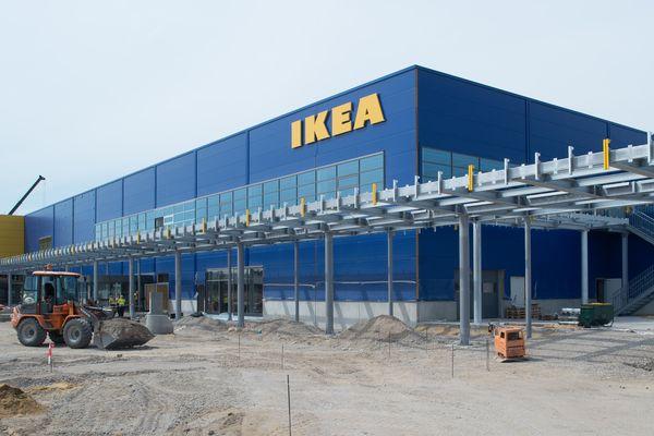 Un magasin de meubles Ikea, comme celui-ci en construction à Magdeburg en Allemagne, devrait voir le jour sur la zone de Béner à l'est du Mans.