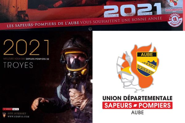 Le calendrier 2021 des pompiers de l'Aube.