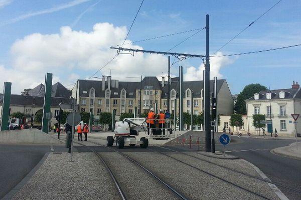 La ligne de tram A à Tours (Indre-et-Loire) interrompue ce lundi place de la Tranchée