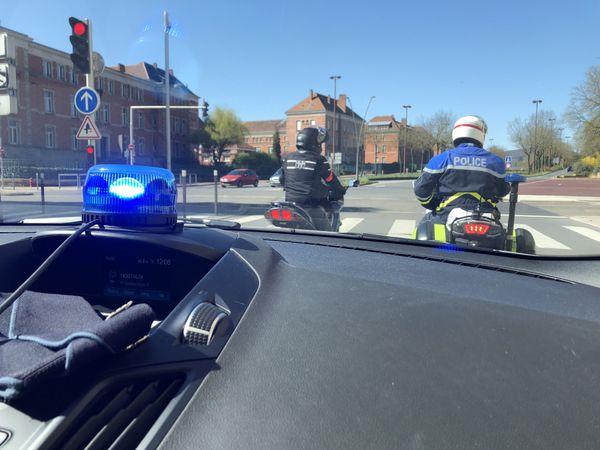 Les motards de la CRS Lorraine-Alsace utilisent également des engins banalisés afin de procéder à des contrôles de respect du confinement.