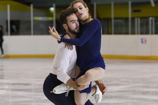 Gabriella Papadakis et Guillaume Cizeron à l'entrainement le 26 septembre 2017 à Lyon