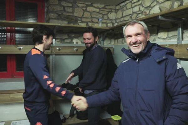 Michel Sorin entraîne depuis 2011, l'AS Vitré, équipe bretonne de National 2 dans laquelle joue ses deux fils Arthur et Elliott