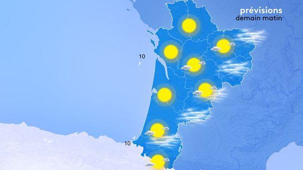 Du Pays Basque jusqu'au Limousin, les brouillards seront nombreux et denses demain matin.