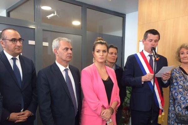 25/04/2019. Marlène Schiappa inaugure à Tours un espace unique en France pour les femmes