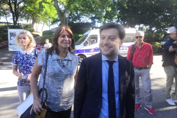 Michèle Rubirola, maire de Marseille et son premier adjoint Benoît Payan