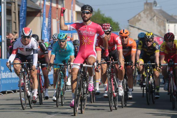 Nacer Bouhanni, remporte la première étape du Tour de Picardie vendredi 13 mai 2016.