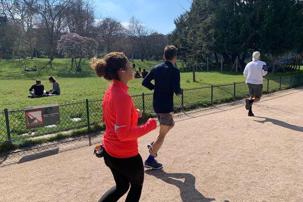 Le parc Monceau le 22 mars 2021.