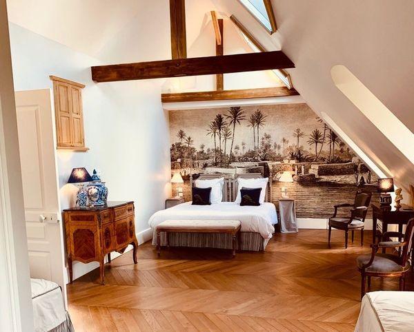 Le château d'Auteuil dispose de 5 chambres d'hôtes entièrement restaurées.