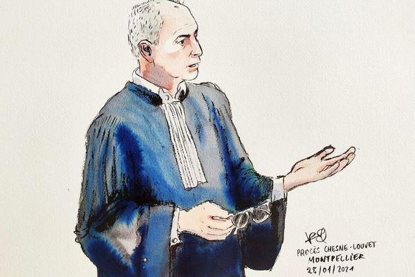 Montpellier - Me Jean-Marc Darrigade, avocat du frère et de la mère de la victime Patrick Isoird, lors de sa plaidoirie - 28 janvier 2021.