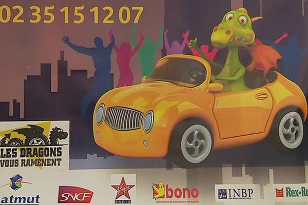"""""""Les Dragons vous ramènent"""" à Rouen : un seul numéro de téléphone et l'assurance d'un retour à la maison en toute sécurité."""
