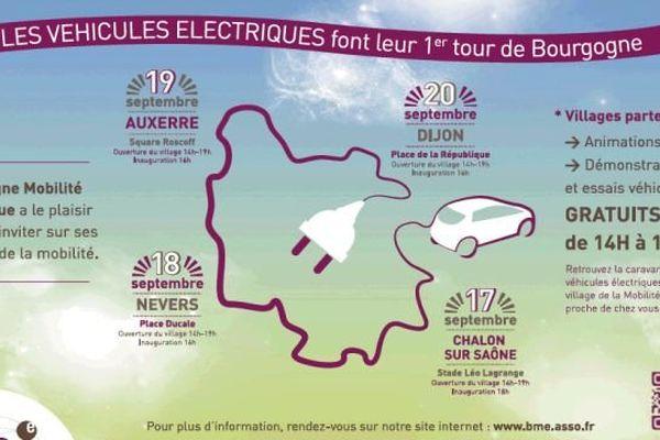 Des animations et démonstrations seront proposées au public par l'association Bourgogne Mobilité Electrique pour découvrir les véhicules électriques et les tester.
