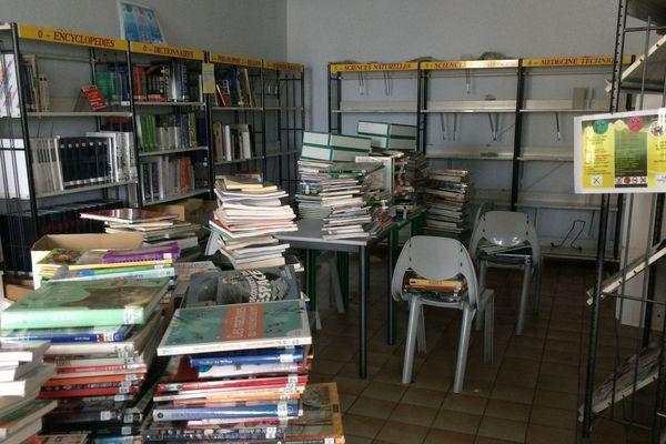 Une salle du collège Imaculée Conception de Clisson inondée suite aux orages du 11 juin 2018