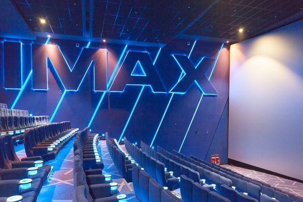 Photo illustration d'une salle de cinéma imax